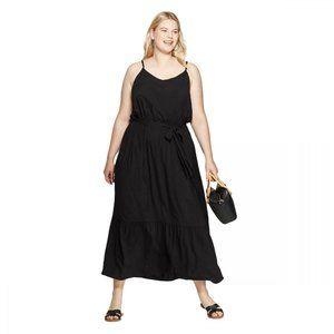 NWT Ava & Viv Size Sleeveless Maxi Dress 3X Black
